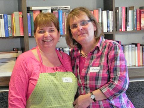 Die beiden Leiterinnen Manuela Mägdefrau und Andrea Schlosser